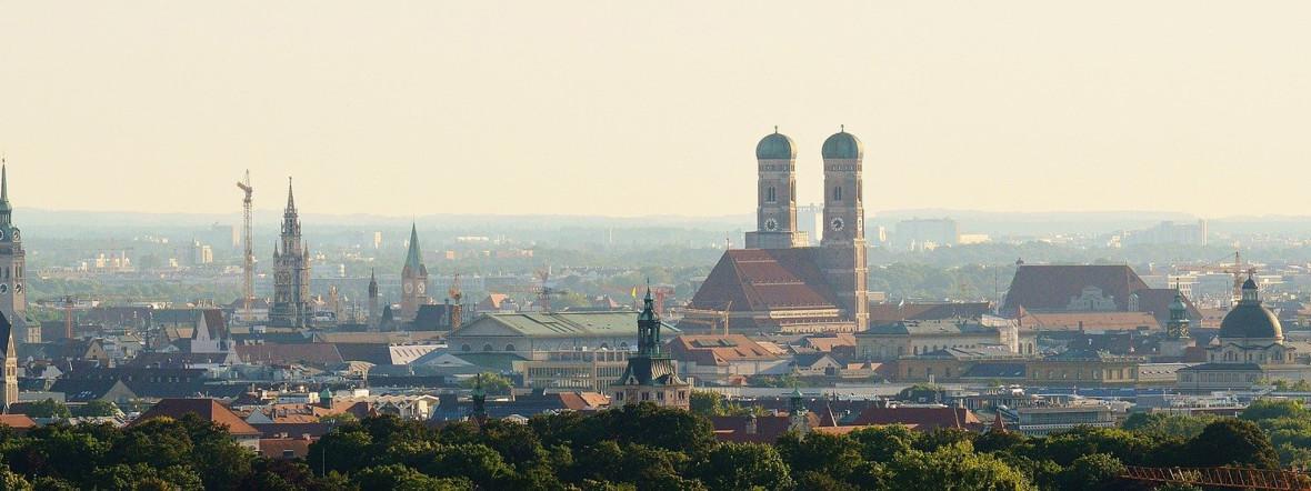 Panorama-Blick auf München