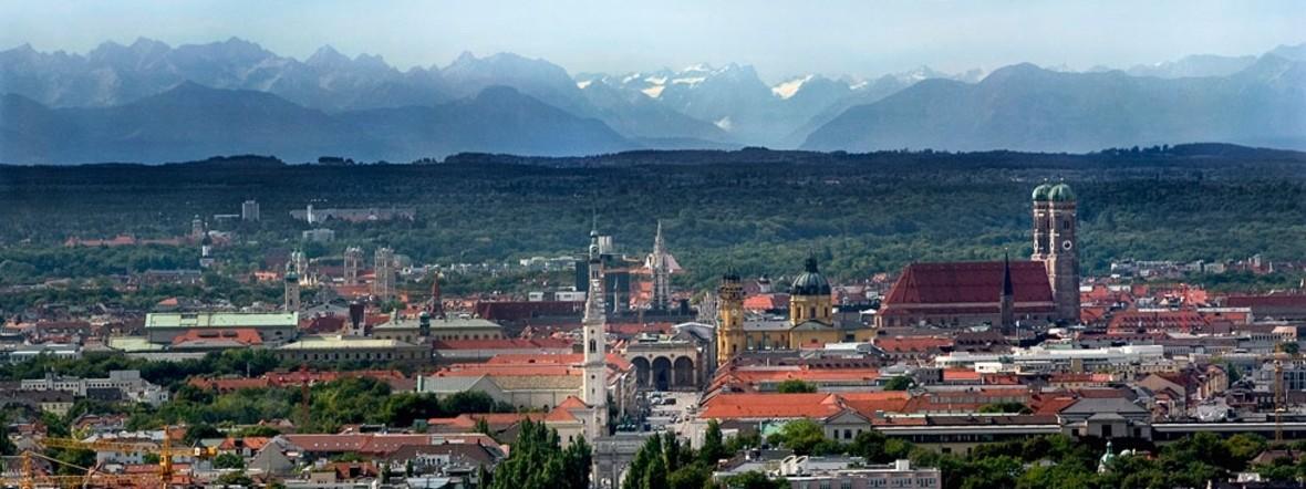 München mit Blick auf die Berge, Foto: Radius Tours