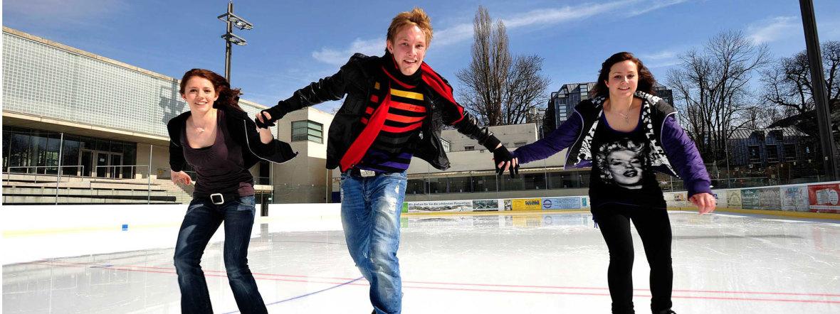 Prinzregentenstadion Eislaufen neue Saison beginnt, Foto: SWM