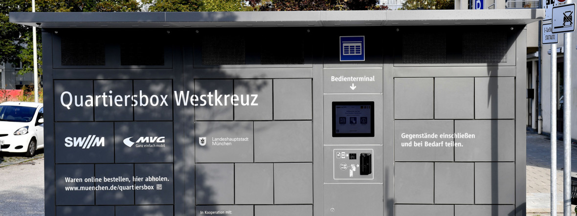 Quartiersbox am Westkreuz, Foto: SWM