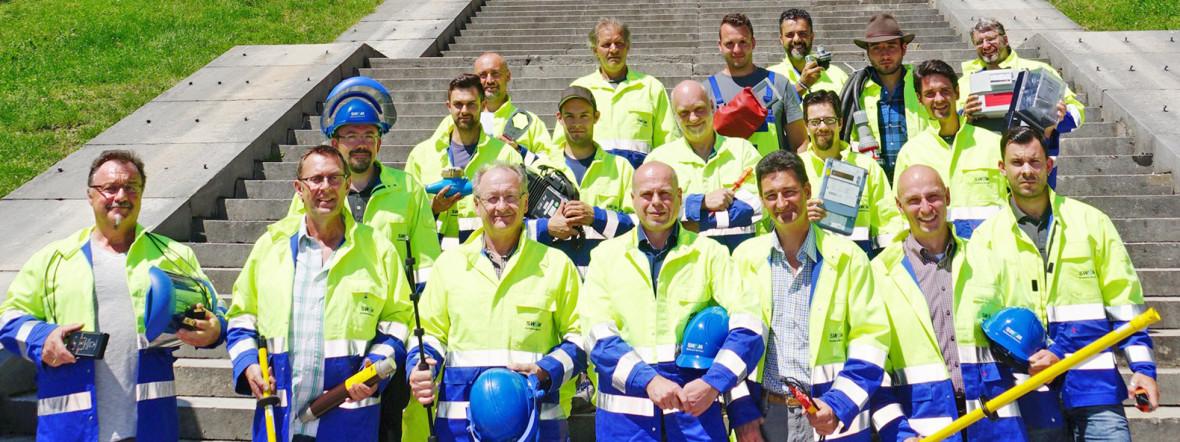 SWM-Mitarbeiter auf der Theresienwiese., Foto: SWM/ Vauelle