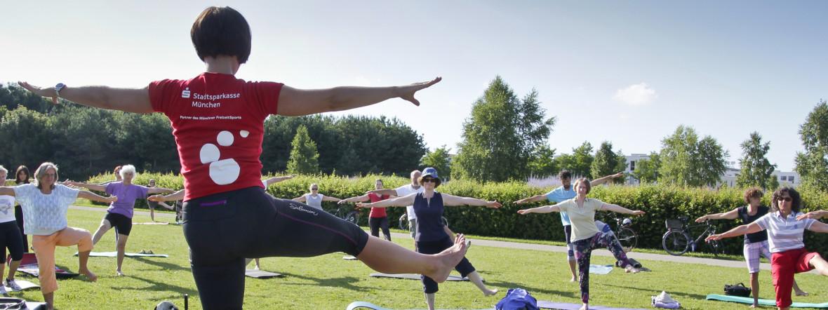 Yoga bei Fit im Park., Foto: Sportamt-Freizeitsport München