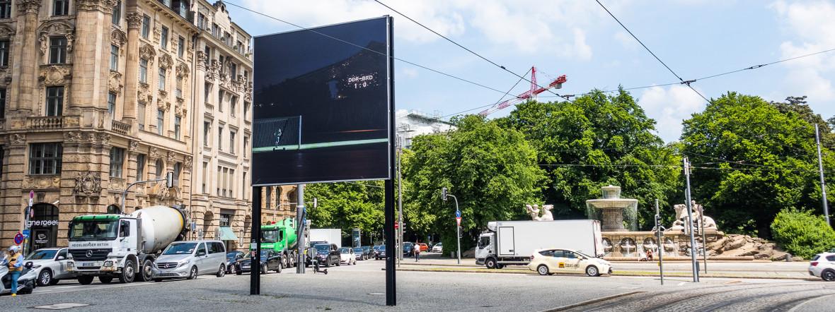 Billboard auf dem Lenbachplatz, Foto: Anette Göttlicher