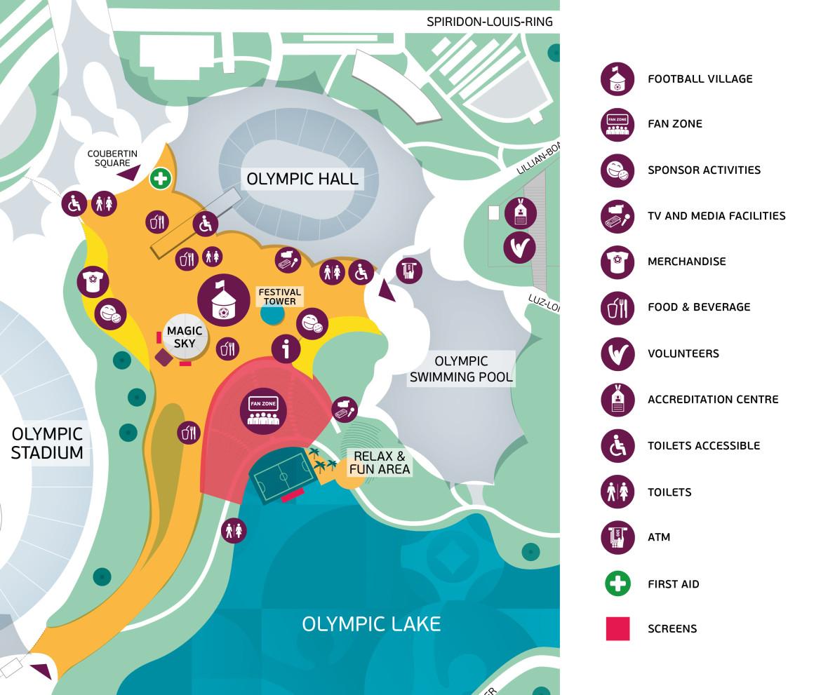 Übersichtsplan Fanfest im Olympiapark