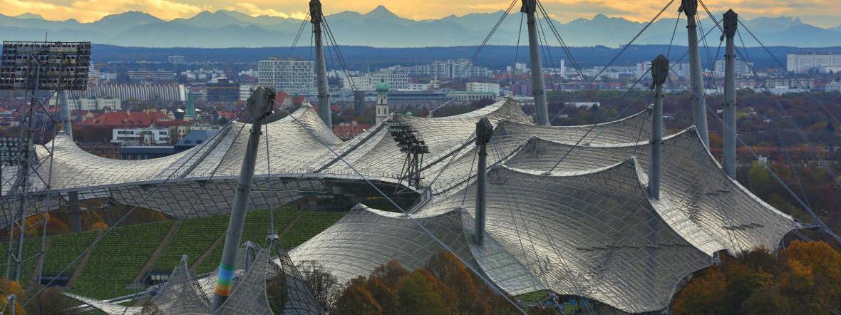 Das Olympiagelände mit seinen zahllosen Möglichkeiten, Sport zu treiben, Foto: Tommy Loesch / München Tourismus