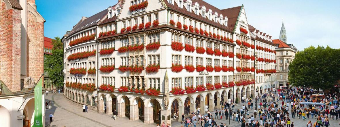 Herrenmodegeschäft Hirmer in der Fußgängerzone, Foto: Münchens Erste Häuser