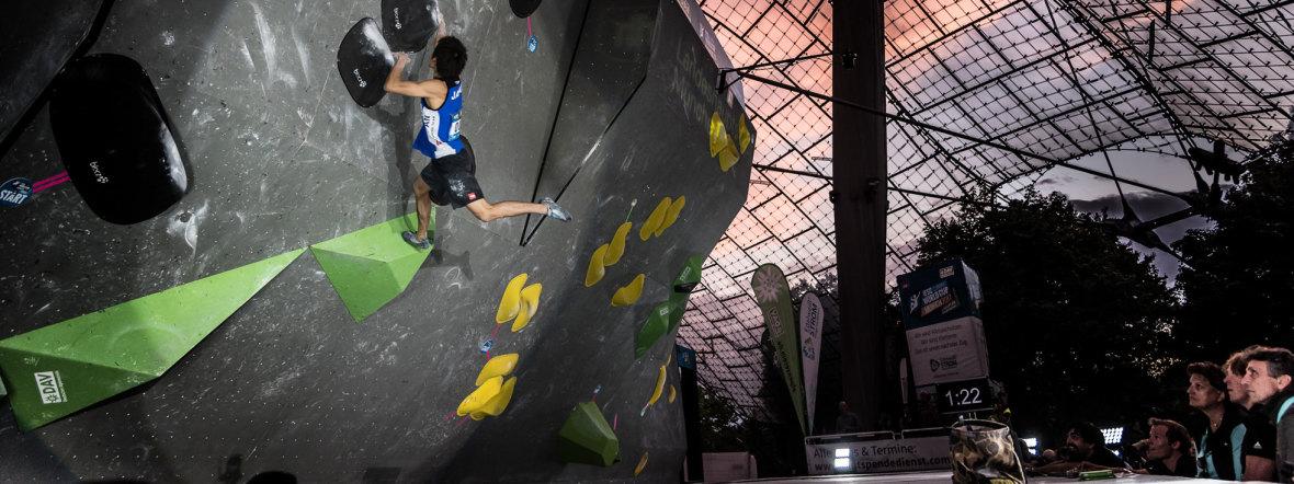 Boulder Weltcup in München, Foto: DAV / Nils Noell