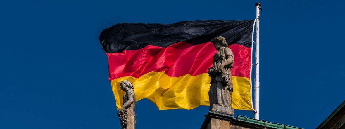 Deutschland-Fahne am Bayerischen Landtag, Foto: muenchen.de/Michael Hofmann