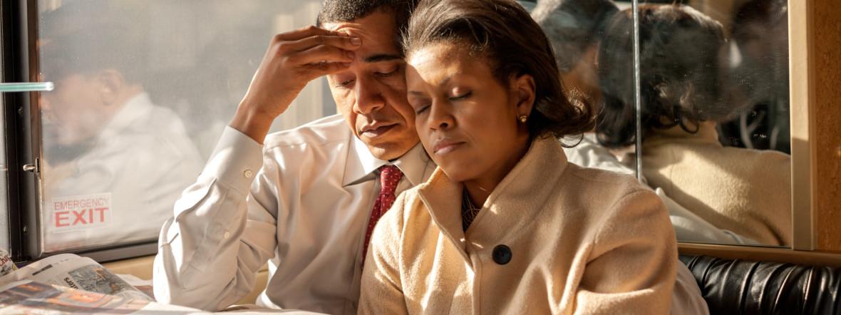 """Foto der Ausstellung """"Hope, Never Fear: Michelle und Barack Obama zwischen Öffentlichkeit und Privatleben"""", Foto: Callie Shell"""