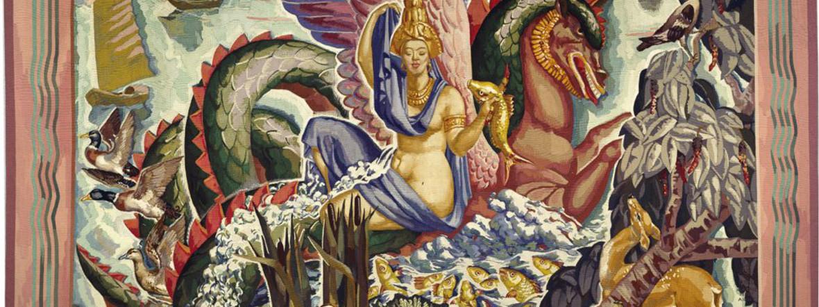 Pierre-Henri Ducos de la Haille (1889–1972) Der Mekong, 1935-1937 Manufacture des Gobelins 288 × 342 cm, Wolle, Seide Sammlung Mobilier national , Foto: © Pierre-Henri Ducos de la Haille / VG Bild-Kunst, Bonn 2019, Foto: Isabelle Bideau