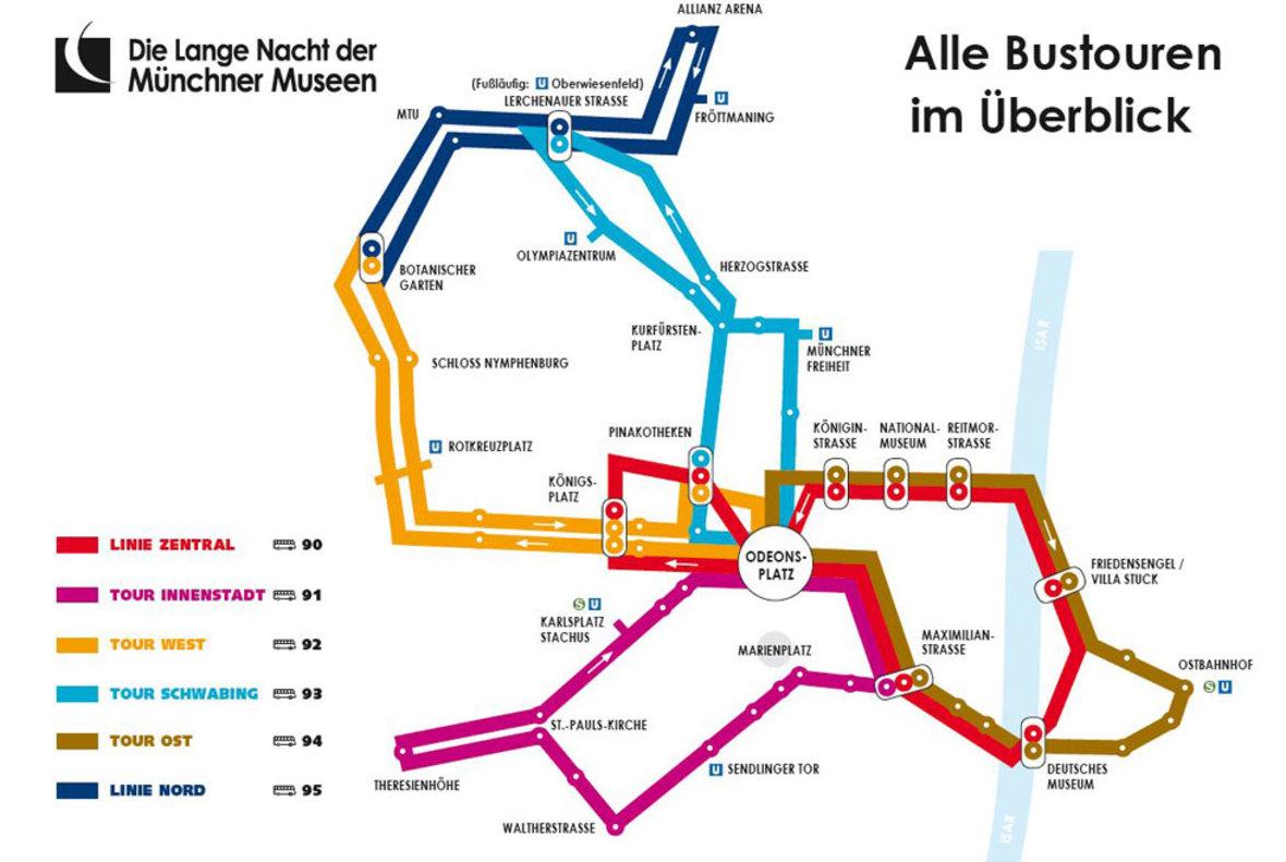 Die Bustouren der Langen Nacht 2019, Foto: Münchner Kultur GmbH