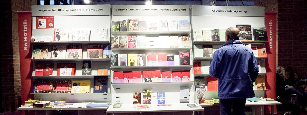 Besucher bei der Bücherschau im Gasteig, Foto: Kerstin Dahnert