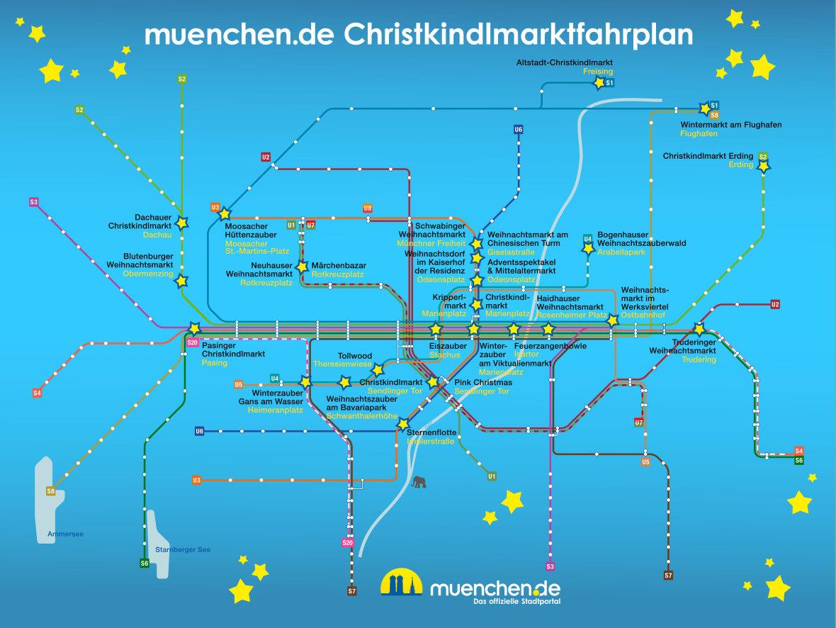 Der Christkindlmarkt-Fahrplan für München 2019