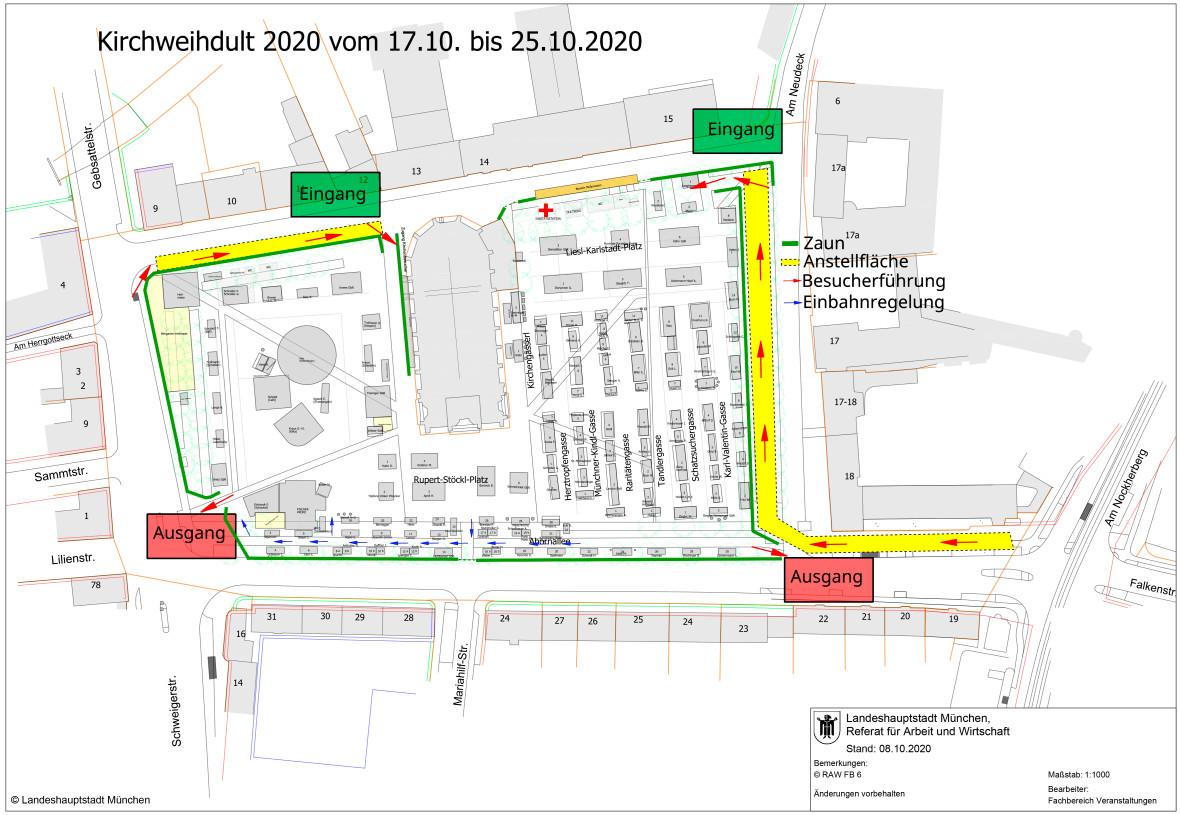 Marktplan der Kirchweihdult 2020