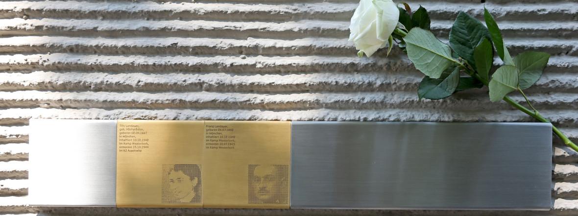 Erinnerungszeichen für Tilly und Franz Landauer, Foto: Michael Nagy / Presseamt