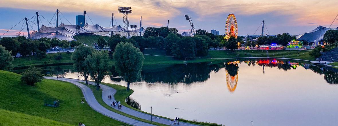 Sommer in der Stadt, vom Olympiaberg aus betrachtet, Foto: muenchen.de/Anette Göttlicher