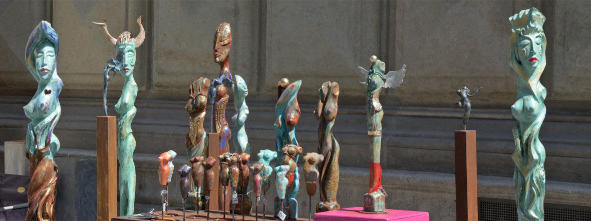 Skulpturen beim Handwerkermarkt, Foto: muenchen.de/Michael Hofmann