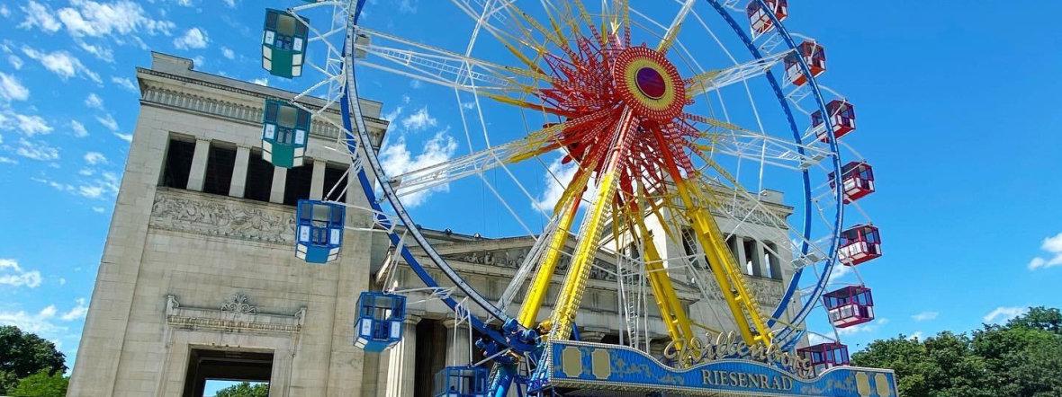 Sommer in der Stadt: Riesenrad Königsplatz, Foto: Anette Göttlicher