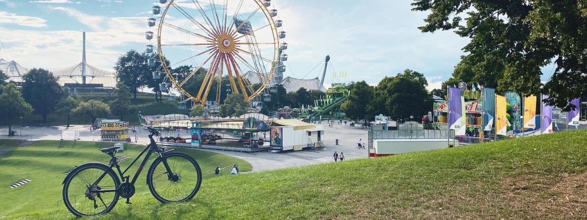 Rad im Olympiapark, Foto: Anette Göttlicher