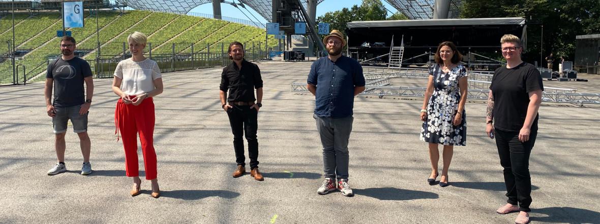 Bald eröffnet die Sommerbühne im Olympiastadion, Foto: muenchen.de/Philipp Hartmann