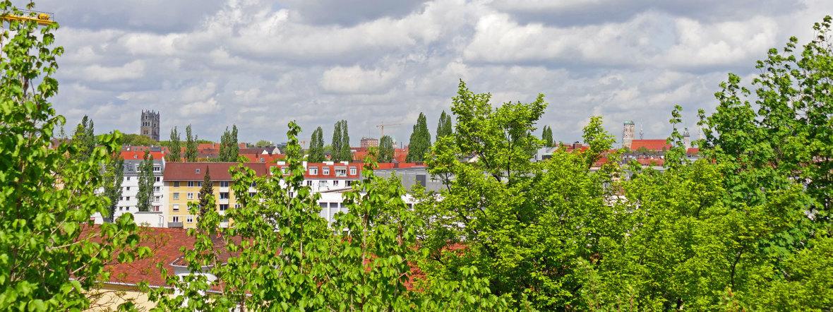 Aussicht vom Nockherberg auf die Frauenkirche, Foto: muenchen.de/Leonie Liebich