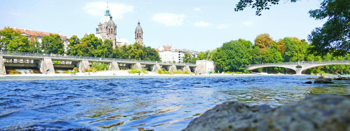 Sommer an den Isarauen, Foto: muenchen.de/Leonie Liebich