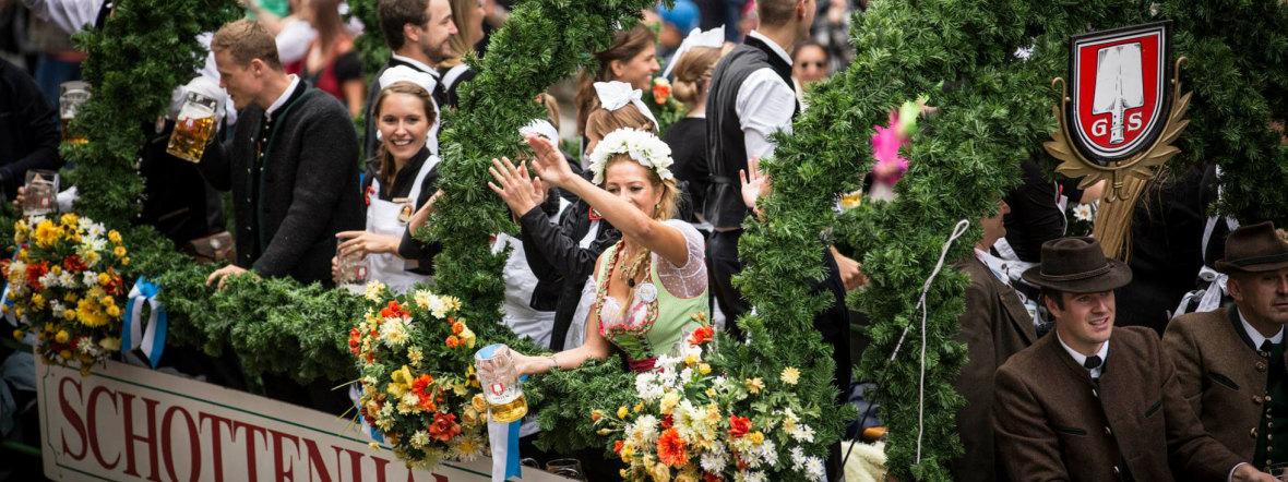 Programm auf dem Oktoberfest: Einzug der Wiesnwirte, Foto: Exithamster