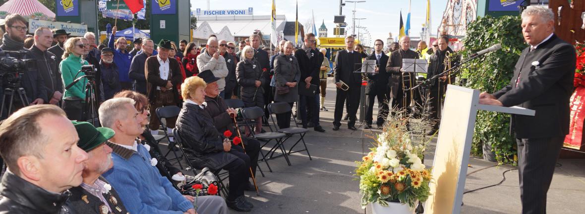 Gedenken an Wiesn-Attentat am Mahnmal für die Opfer, Foto: muenchen.de/Dan Vauel 2018