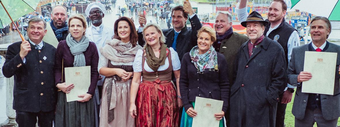 """Fünf Zelte auf dem Oktoberfest als """"ausgezeichnete Festzelte"""" geehrt, Foto: Anette Göttlicher"""