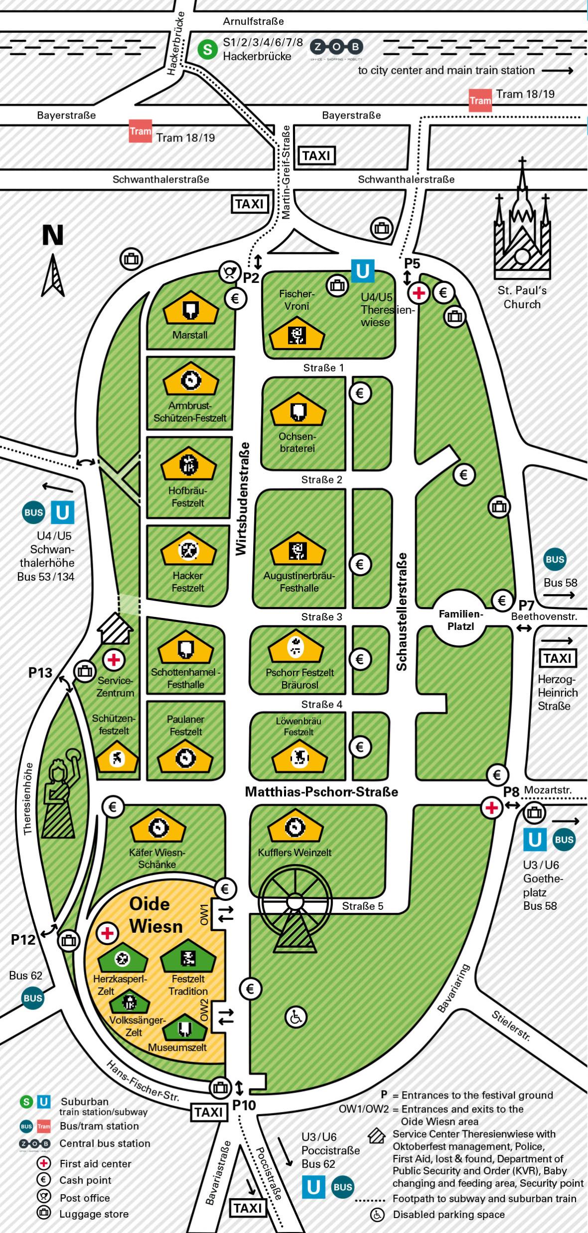 Official Oktoberfest Map